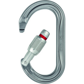 Petzl OK Karabiner Screw-Lock grau